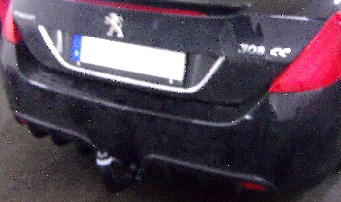 Anhängerkupplung Peugeot-308 CC, Baureihe 2009- Ausf.:  vertikal