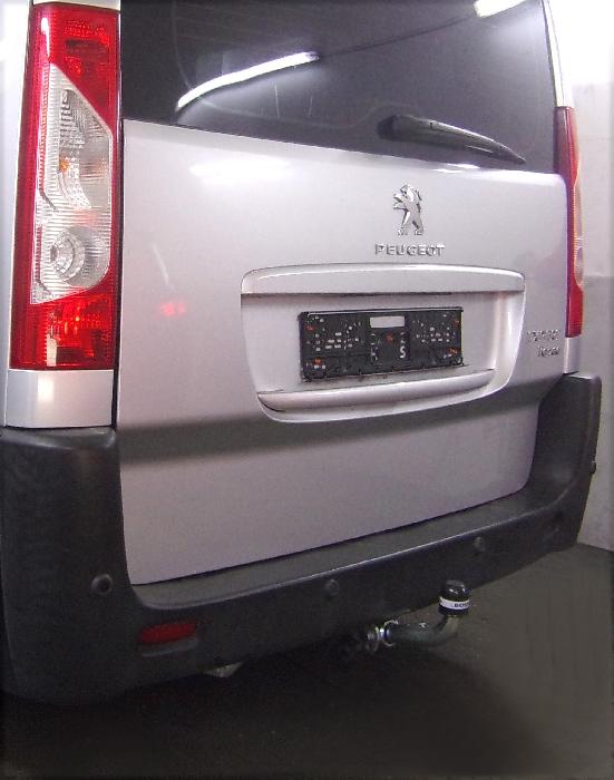 Anhängerkupplung Peugeot-Expert Kasten/ Bus/ Kombi, spez. auch mit Einparksensoren- PDC, Baureihe 2007-2016 Ausf.:  horizontal