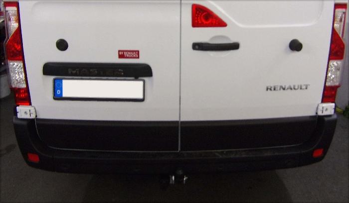 Anhängerkupplung für Renault-Master Kasten, Bus, Kombi, Frontantrieb, Fzg. ohne Elektrosatz Vorbereitung, Baureihe 2014-  feststehend