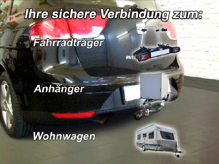 Anhängerkupplung Seat-Altea XL, ohne Elektrosatzvorbereitung, Baureihe 2006- Ausf.:  feststehend