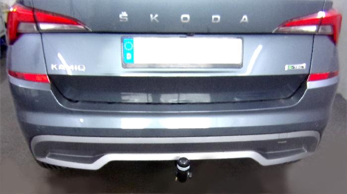 Anhängerkupplung Skoda Kamiq spez. G-Tec, nur für Heckträgerbetrieb, Montage nur bei uns im Haus, Baureihe 2019-  vertikal