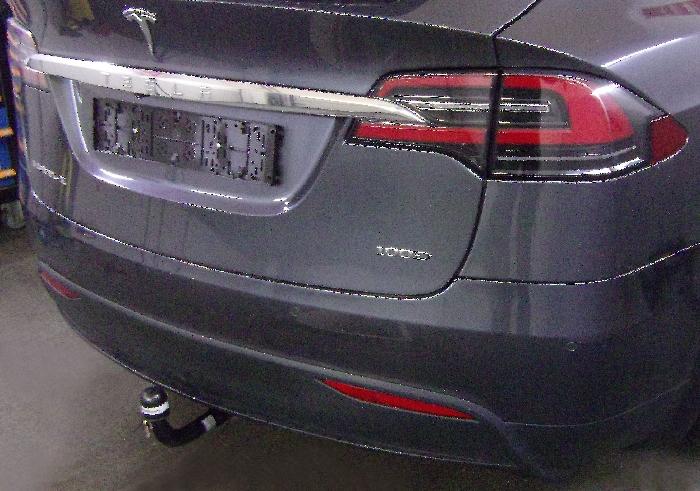 Anhängerkupplung Tesla-Model X Allrad, nur für Heckträgerbetrieb, Montage nur bei uns im Haus, Baureihe 2016- Ausf.:  vertikal