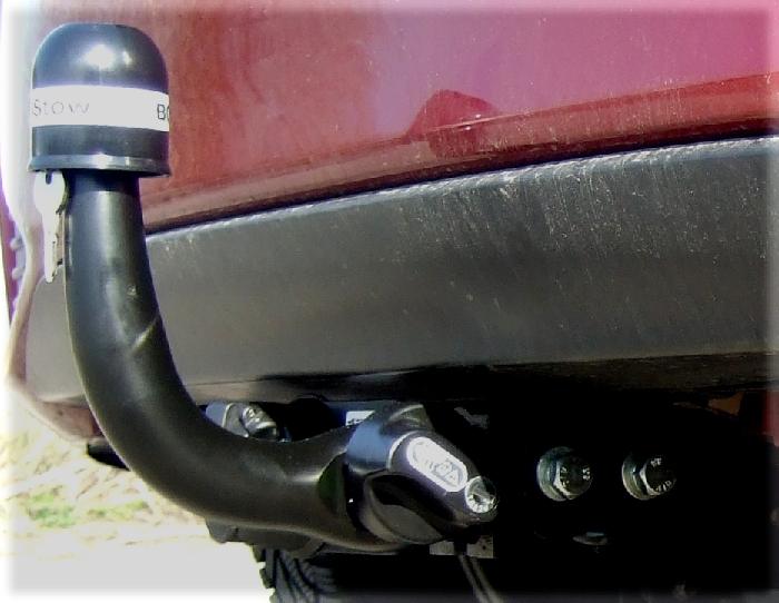 Anhängerkupplung Toyota Yaris Fließheck, speziell Hybrid, nur für Heckträgerbetrieb, Baureihe 2014-2020  horizontal
