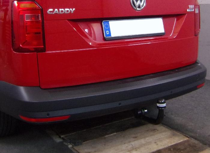 Anhängerkupplung VW-Caddy IV, Maxi mit Benzin- o. Dieselmotor, Baureihe 2015-2020 Ausf.:  vertikal