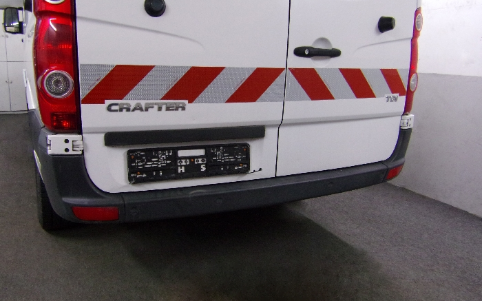 Anhängerkupplung für VW-Crafter I 30-35, Kasten, Radstd. 3665mm, Fzg. ohne Trittbrettst., Baureihe 2006-2017  feststehend