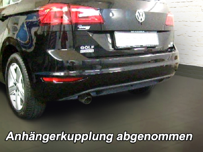 anh ngerkupplung abnehmbar f r vw golf vii sportsvan r. Black Bedroom Furniture Sets. Home Design Ideas