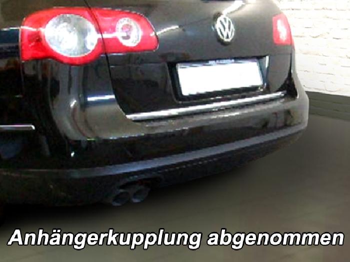 Anhängerkupplung für VW-Passat 3c, incl. 4-Motion, Variant, Baureihe 2005-2010  vertikal