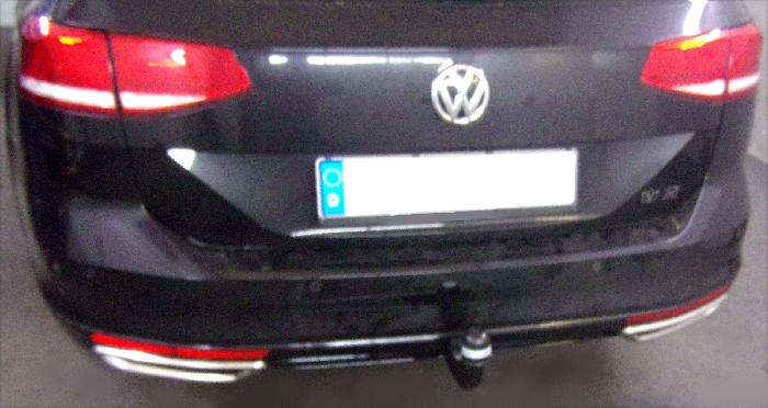 Anhängerkupplung für VW-Passat 3c, incl. 4-Motion, Variant, Baureihe 2014-  vertikal