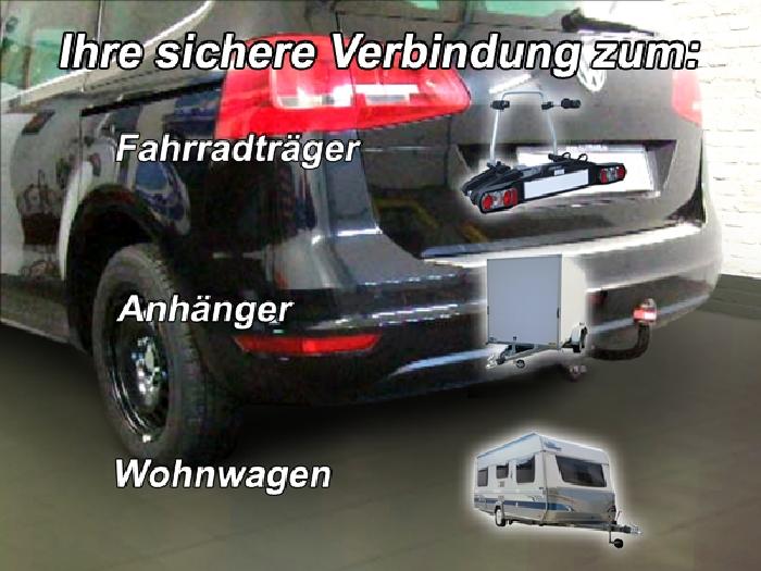 Anhängerkupplung VW-Sharan inkl. 4x4, Baureihe 2010-2012