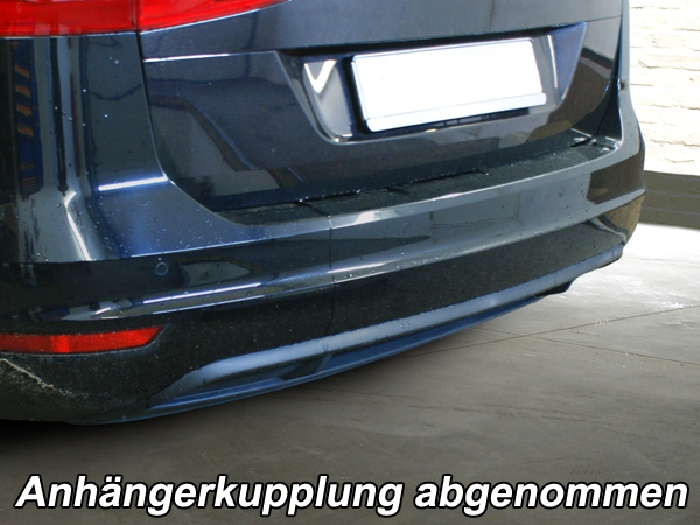 Anhängerkupplung VW-Touran Van, auch f. Modell Cross, Baureihe 2010-2015 Ausf.:  vertikal
