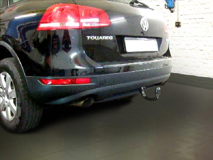 Anhängerkupplung VW-Touareg f. Fzg. m. Reserverad am Boden, Baureihe 2002-2005