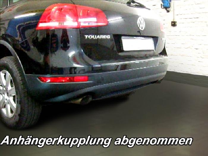 Anhängerkupplung VW-Touareg f. Fzg. m. Reserverad am Boden, Baureihe 2002-2005 Ausf.:  vertikal