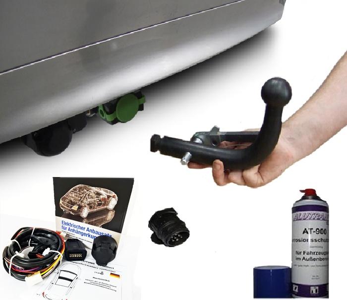 Anhängerkupplung Nissan-Almera N16, Limousine, Baureihe 2000- Ausf.:  horizontal
