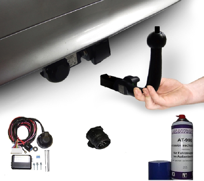 Anhängerkupplung Peugeot-108 Heckträgeraufnahme, nur für Heckträgerbetrieb, Baureihe 2014- Ausf.:  horizontal