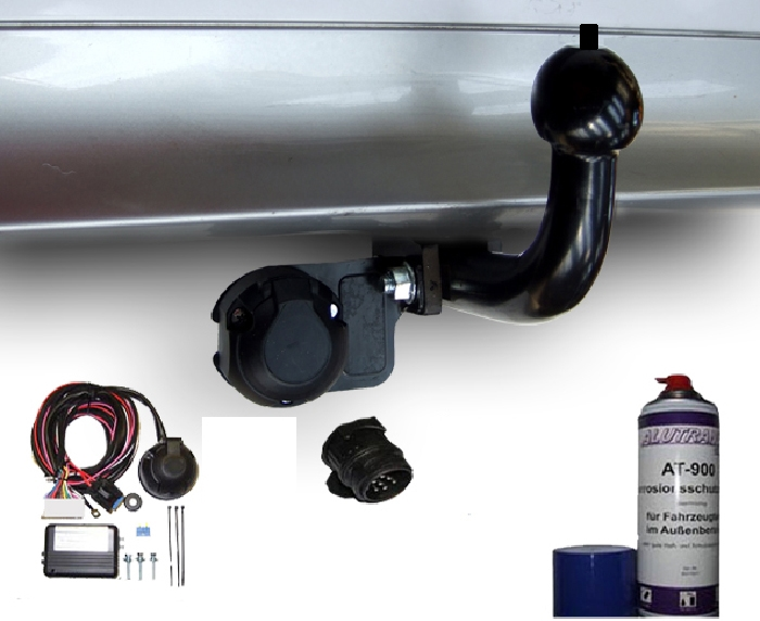 Anhängerkupplung Peugeot-108 Heckträgeraufnahme, nur für Heckträgerbetrieb, Baureihe 2014- Ausf.:  feststehend