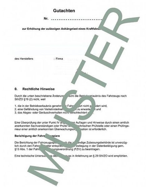 Anhängelast erhöhen VW T5 Hochladepritsche, 2003- (feststehende AHK incl. Gutachten)