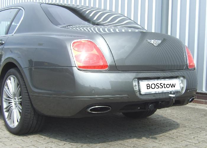 Anhängerkupplung Bentley-Continental Flying Spur Limousine, nur für Heckträgerbetrieb, Montage nur bei uns im Haus, Baureihe 2005-2013 Ausf.:  vertikal
